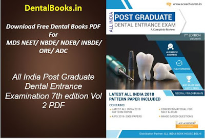 All India Post Graduate Dental Entrance Examination 7th edition Vol 2 PDF