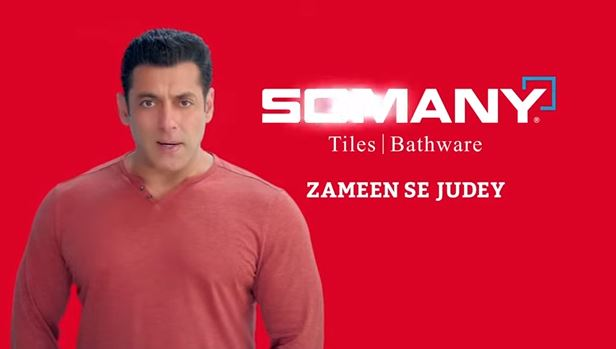 SOMANY CERAMICS LAUNCHES NEW TVC CAMPAIGN 'ZAMEEN SE JUDEY' WITH IT'S BRAND AMBASSADOR SALMAN KHAN