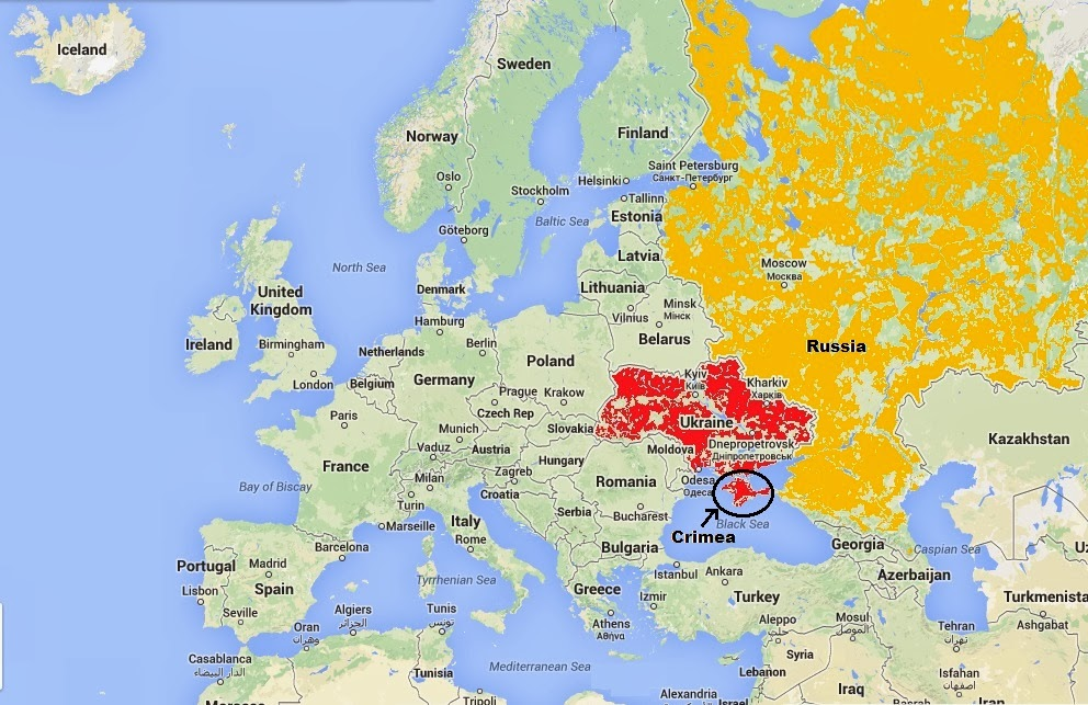 Keith\'s Interweb: Map of Ukraine, Crimea, Russia