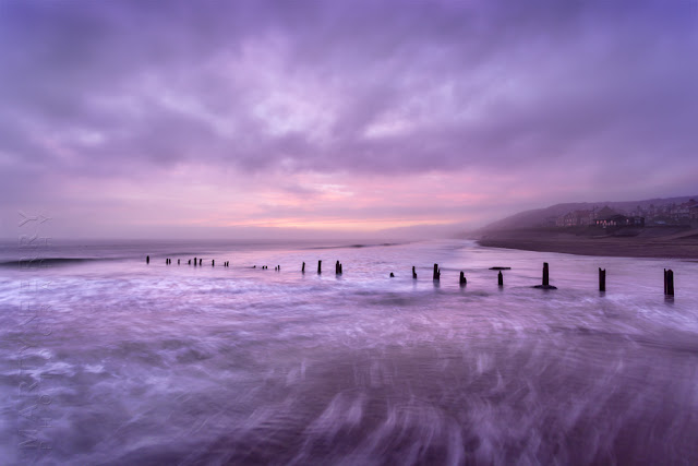 Sunrise image of Sandsend beach near Whitby by Martyn Ferry Photography