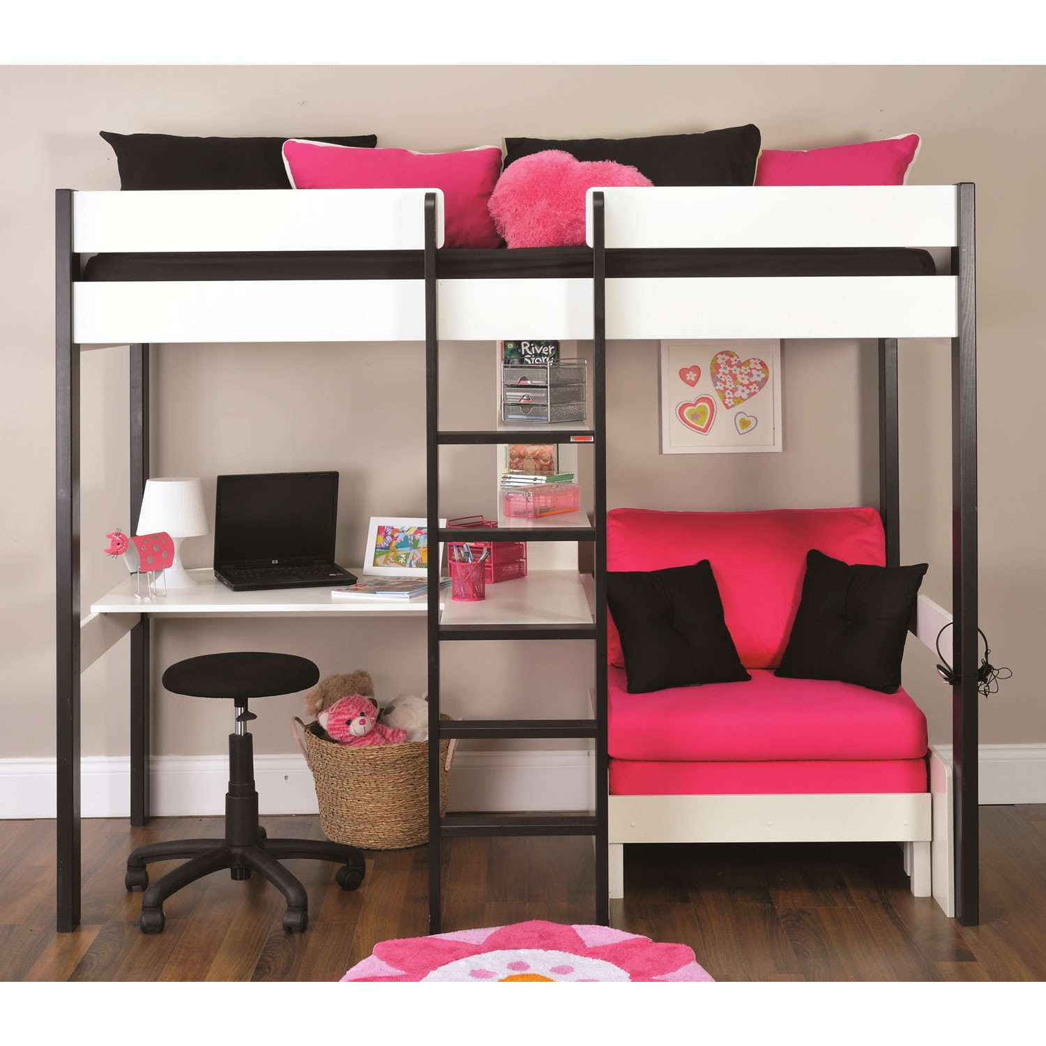 More than 20 beautiful couch bunk bed designs bahay ofw for Modern bunk bed with desk