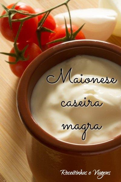 Receita de maionese caseira magra para saladas