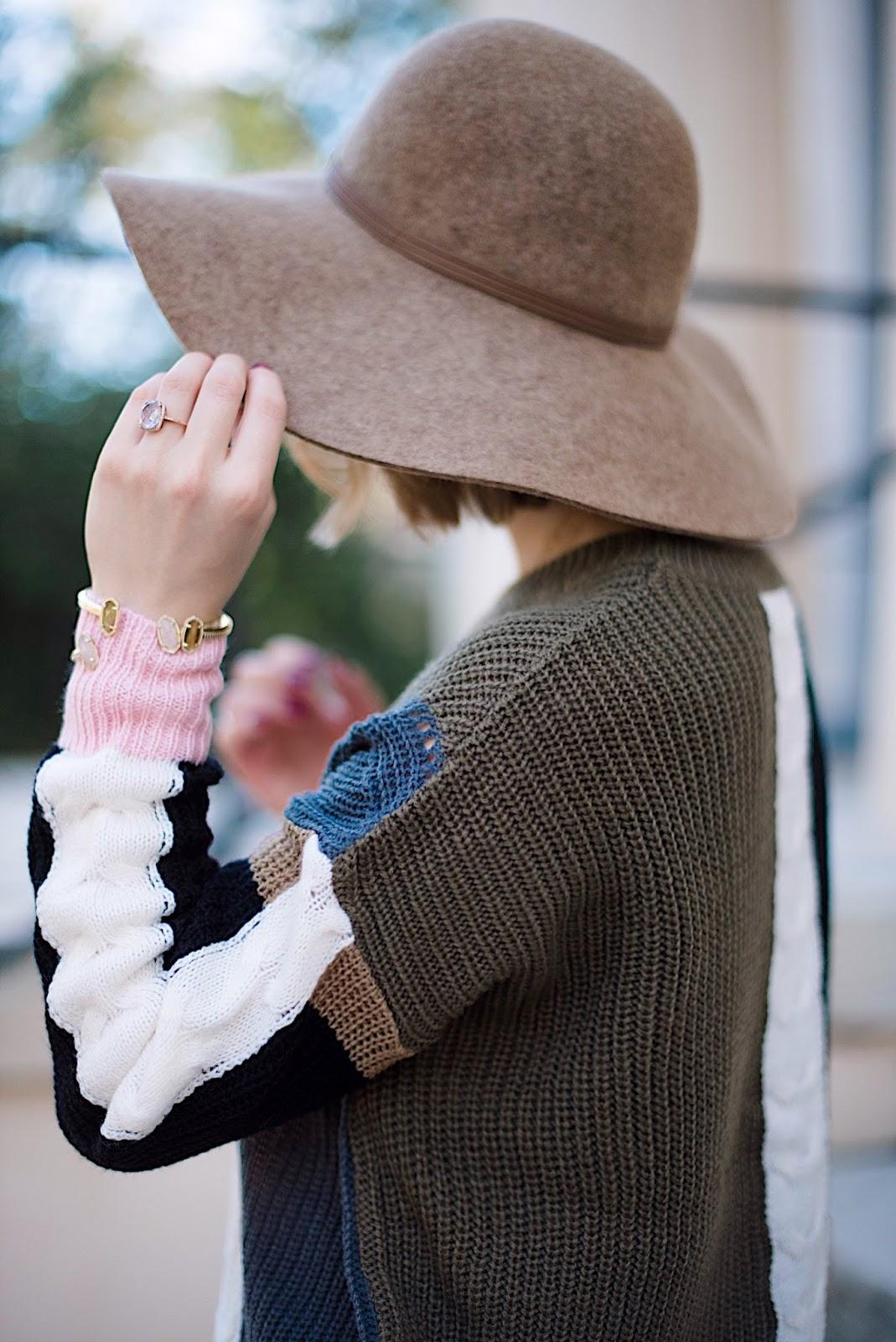 Floppy Hat for Fall - Something Delightful Blog