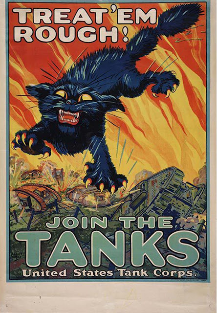 Treat 'em Rough / Join the Tanks United States Tank Corps, 1918, August William Hutaf.