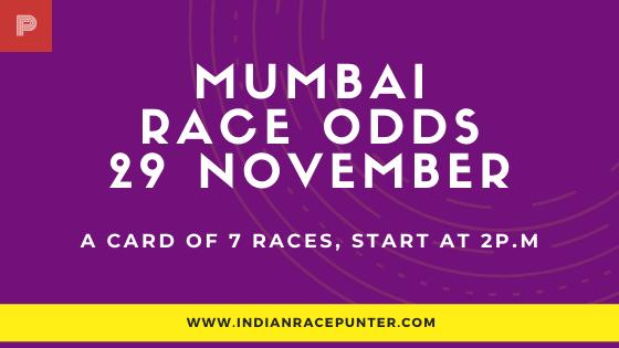 Mumbai Race Odds 29 November, Race Odds