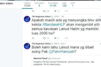 Klarifikasi TNI AU Jawab Tudingan Fahri Hamzah Soal Isu Penjualan Pangkalan Militer kepada Asing
