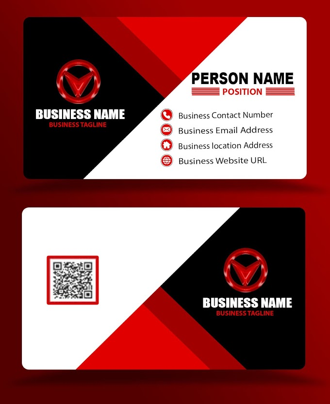 three color business card template eps psd free download