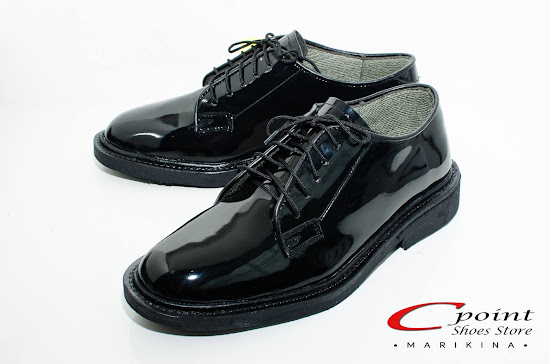 CPoint Marikina Black Leather Charol Shoes