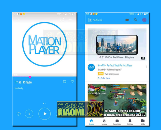 Download Thema Xiaomi Mation Blue Mtz For Xiaomi Redmi Themes