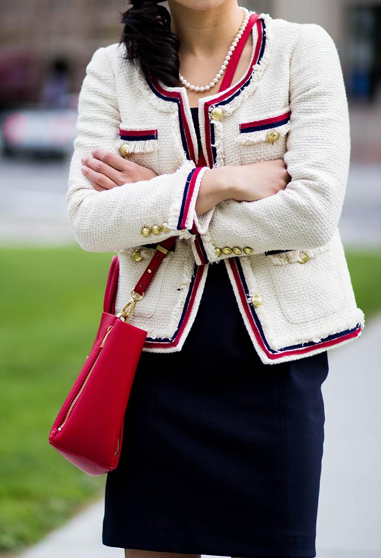 Tweed Jacket J Crew Fringy Tweed Jacket Review Elle