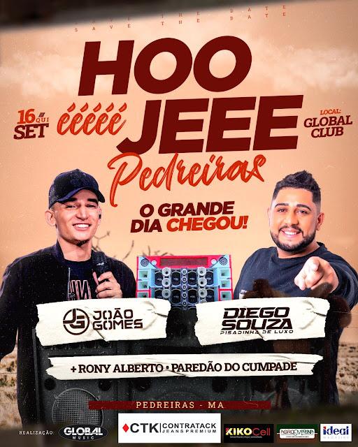 Chegou o grande dia do show do João Gomes no Global Clube em Pedreiras.