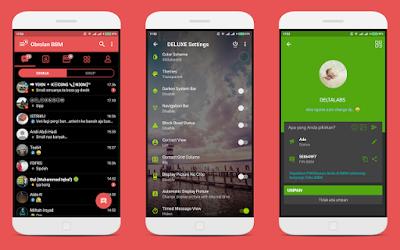 BBM MOD Deluxe v1.1.0 Base 3.3.3.39 Apk Android Terbaru Gratis