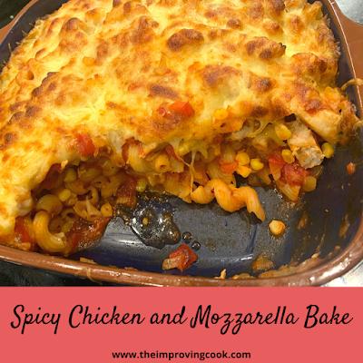Spicy Chicken and Mozzarella Pasta Bake