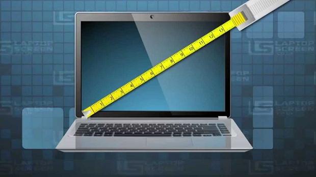 लैपटॉप स्क्रीन का आकार