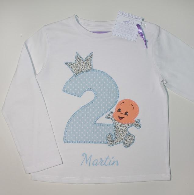 camiseta de cumpleaños 2 años cuquin