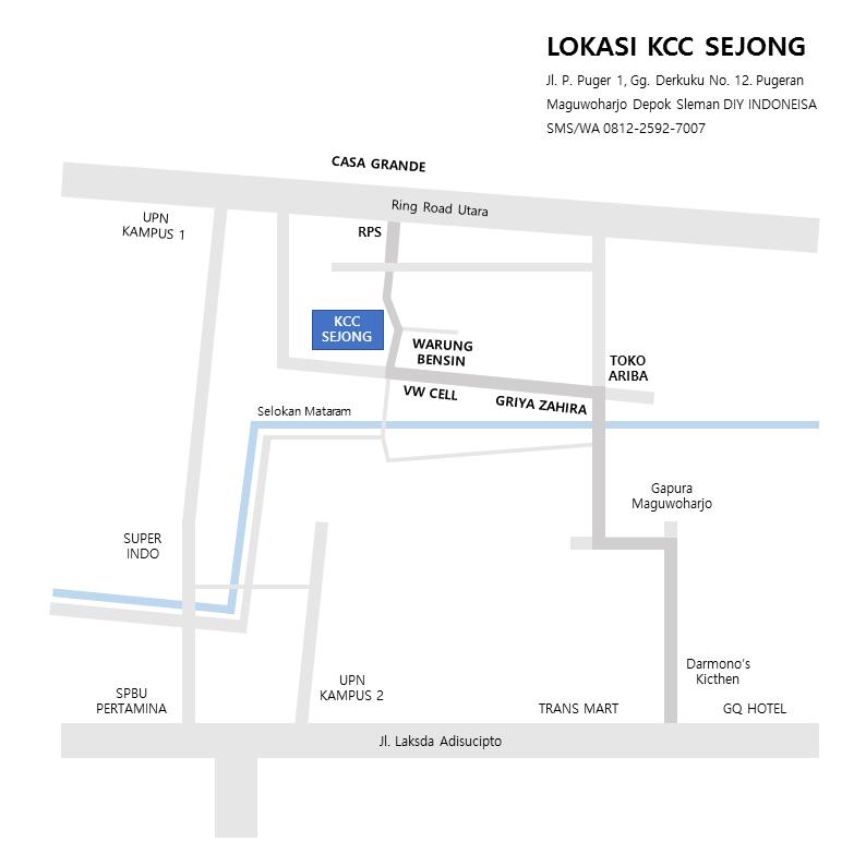 Denah Lokasi Pusat Budaya Korea KCC Sejong Yogyakarta