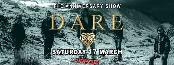 DARE: Σάββατο 17 Μαρτίου, Anniversary Show @ The Crow Club