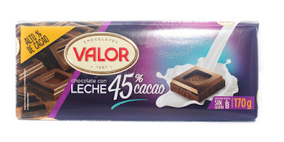 Valor chocolate con leche 45%