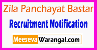 Zila Panchayat Bastar Recruitment Notification 2017 Last Date 18-07-2017