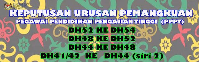 Tahniah di Atas Kejayaan Rakan-rakan Sekerja yang Berjaya mendapat kenaikan pangkat DH48, DH52 dan DH54