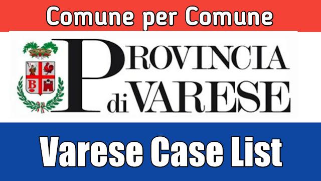 Comune de hisab nal Varese di list 26/03/2020