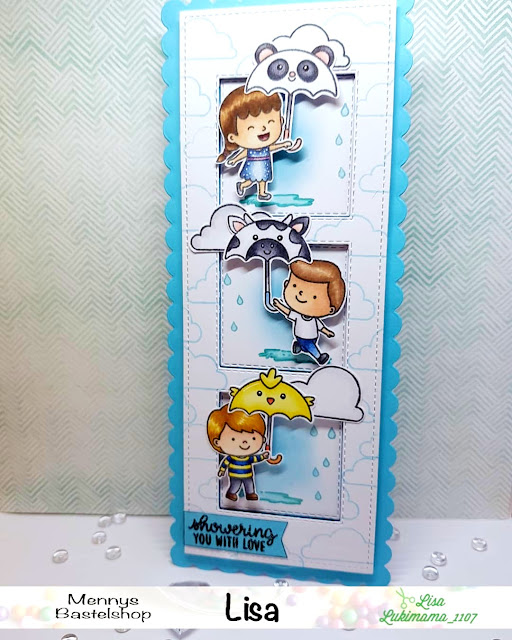 Sunny Studio Stamps: Spring Showers Customer Card by Lisa Lukimama