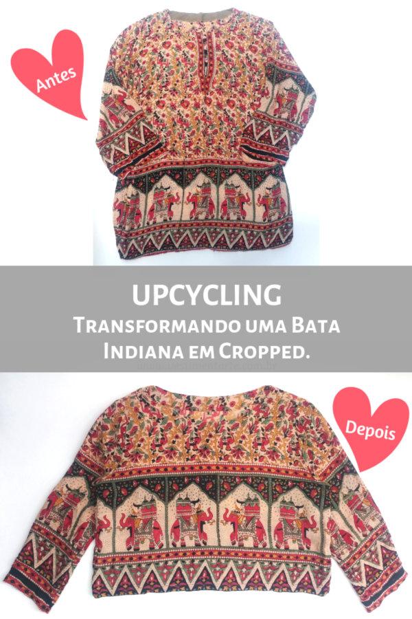 Customização Bata Indiana Cropped