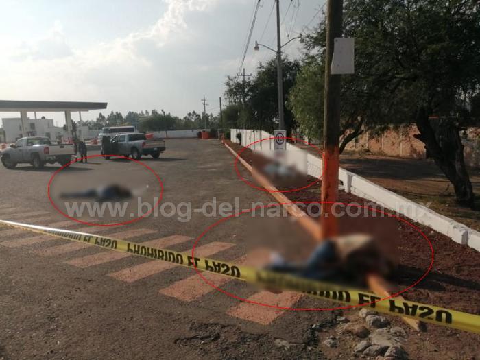 Imágenes del Terror; Masacre en Apaseo el Alto; Guanajuato, Sicarios ejecutan a 6 hombres y 2 mujeres en Gasolinera sobre carretera Panamericana