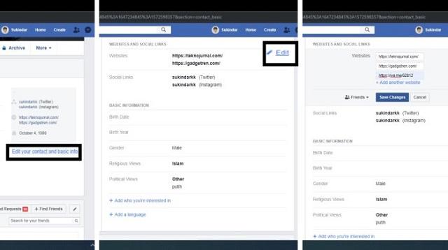 Cara Membuat Link WA di FB