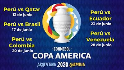 FIXTURE del Perú en la Copa América 2021 Selección de Futbol