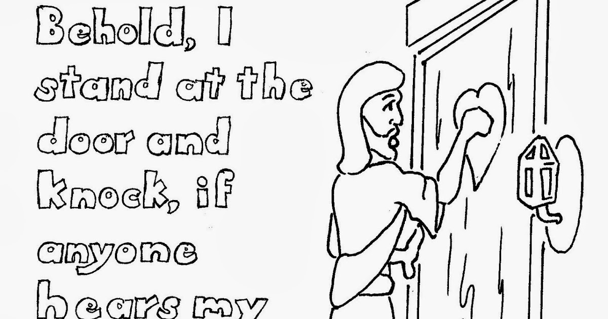 Coloring Pages for Kids by Mr. Adron: I Stand At The Door