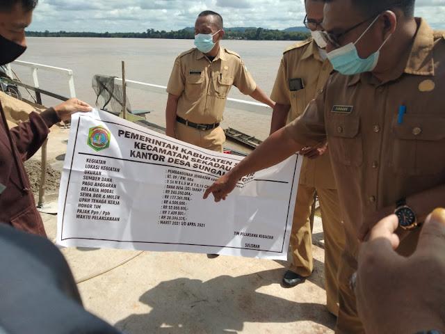 Pemerintah Kecamatan Sekadau Hilir Monev Pembangunan di Desa Sungai Ringin