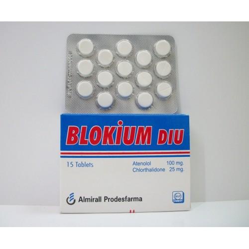 سعر ودواعي استعمال اقراص بلوكيوم ديو BLOKIUM DIU للضغط