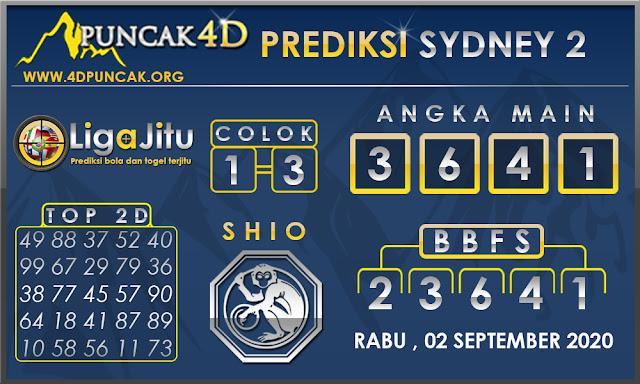 PREDIKSI TOGEL SYDNEY2 PUNCAK4D 02 SEPTEMBER 2020