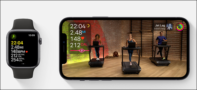 apple fitness + معاينة الصورة
