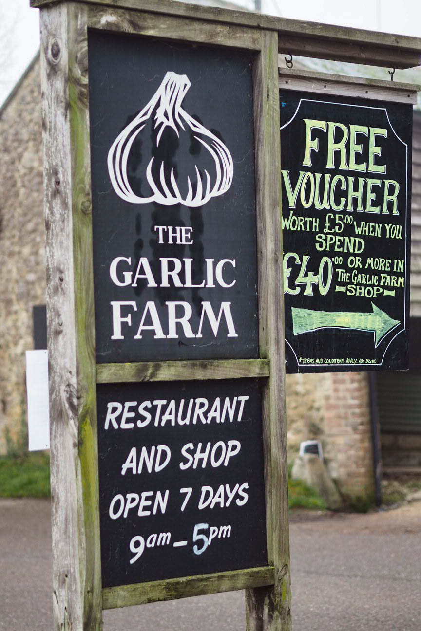 The Garlic Farm sign