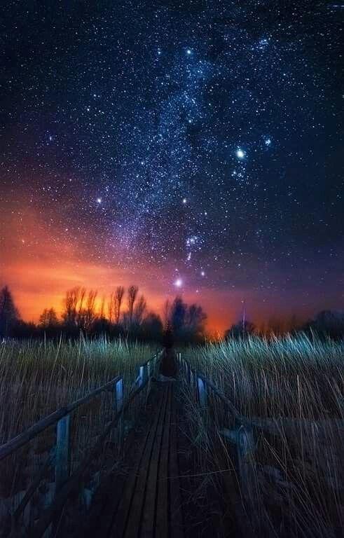 Gambar Pemandangan Alam Bintang Malam