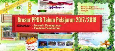 Siap Edit Brosur PPDB Tahun Pelajaran 2017/2018 Format Ms Word
