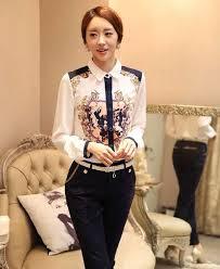 Trend Baju Wanita Kemeja Motif Bunga Terbaru