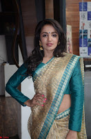 Tejaswi Madivada looks super cute in Saree at V care fund raising event COLORS ~  Exclusive 024.JPG