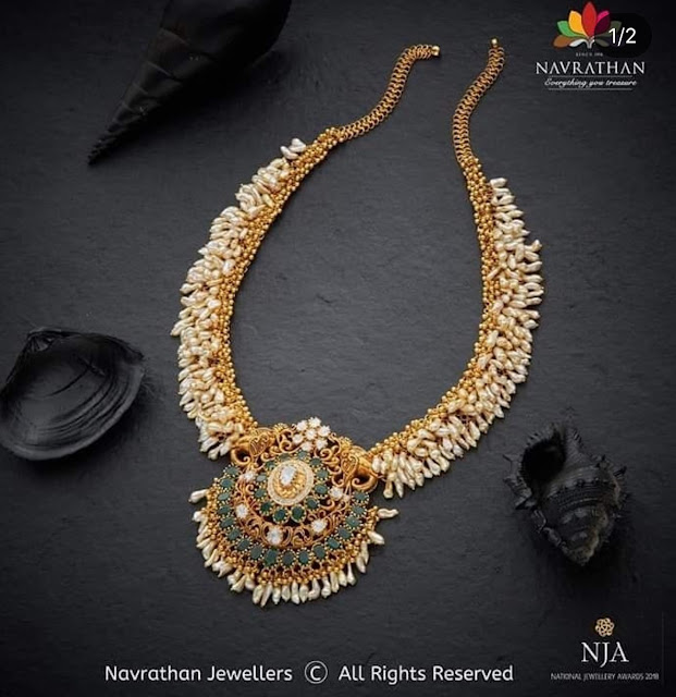 Rice Pearl Necklace by Navarathan