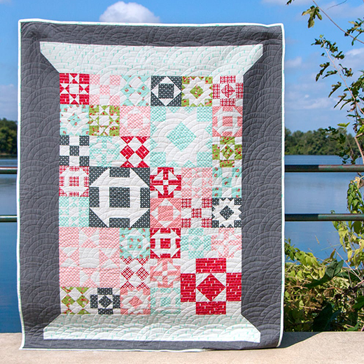 Threadology Quilt Along designed by Kimberly of Fat Quarter Shop