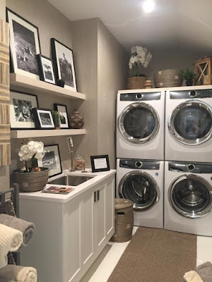 Trendy Upstairs Laundry Rooms
