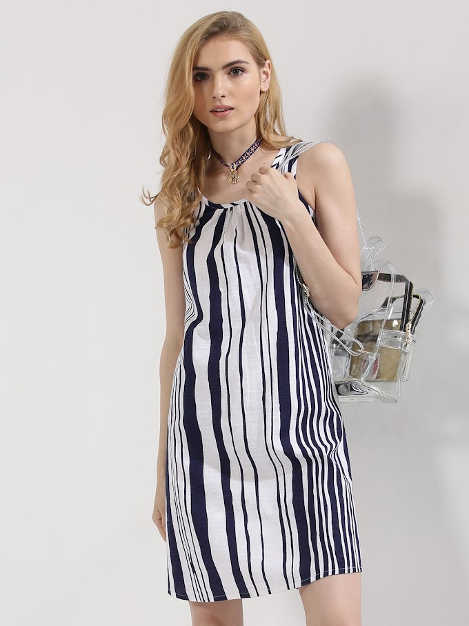 Striped Tunic Dress | Latest Indian Fashion Trends 2017