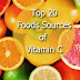 Top 20 Foods Sources Of Vitamin C