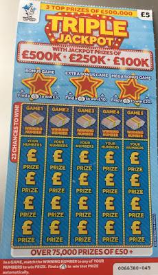 £5 Triple Jackpot Scratchcard