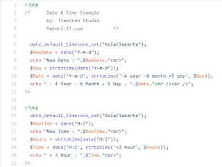 Cara Menambah dan Mengurangi DateTime PHP