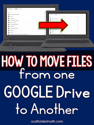 In this post are simple directions for how to move a file from one Google Drive to another.