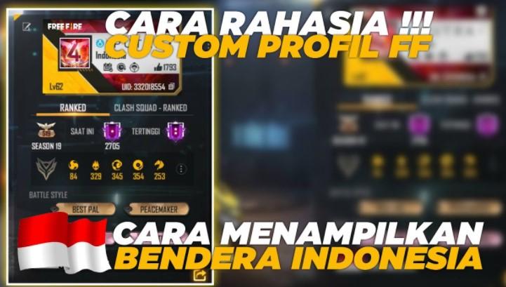 kode bendera Indonesia di FF