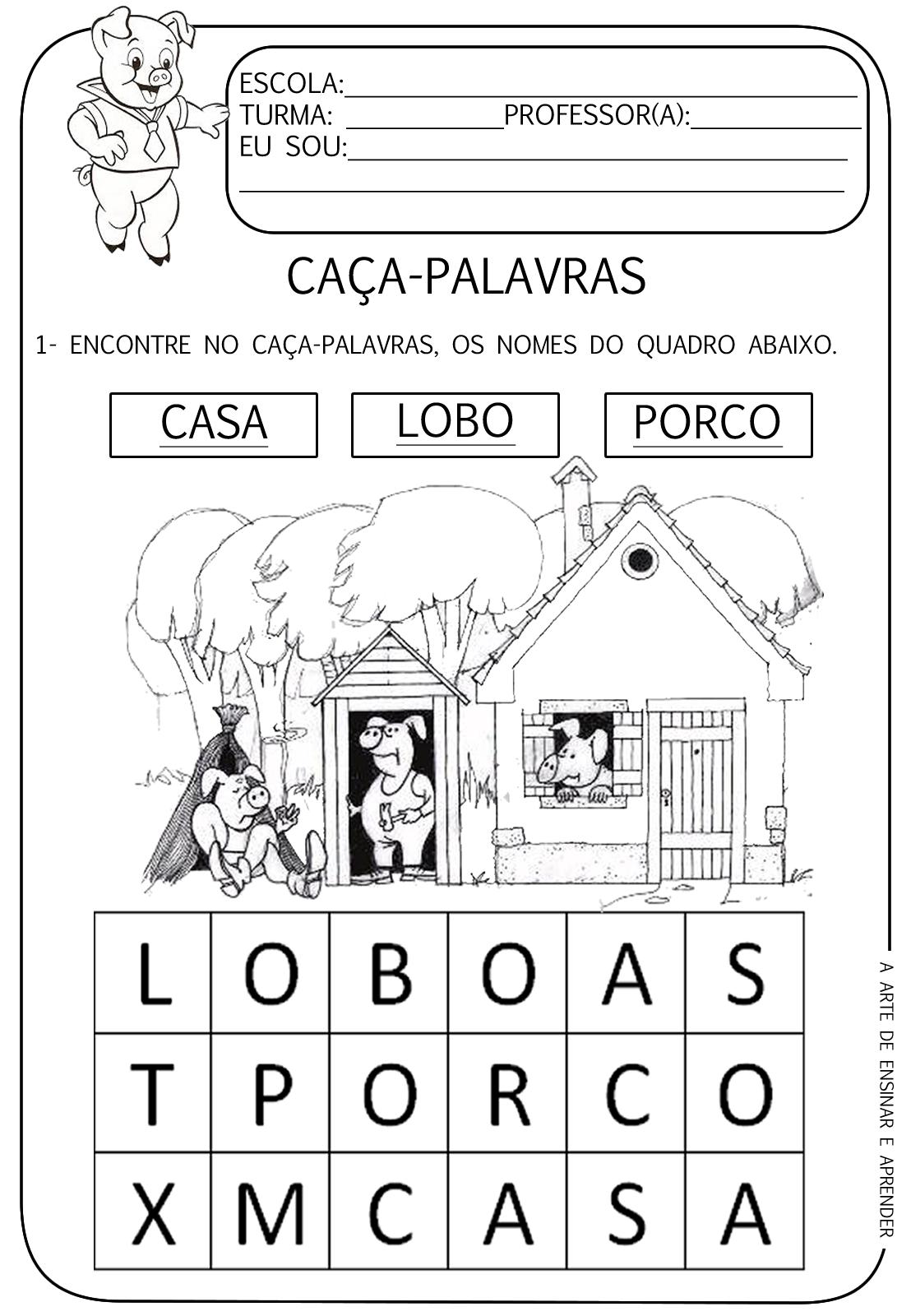 Atividades Tematicas Os 3 Porquinhos A Arte De Ensinar E Aprender